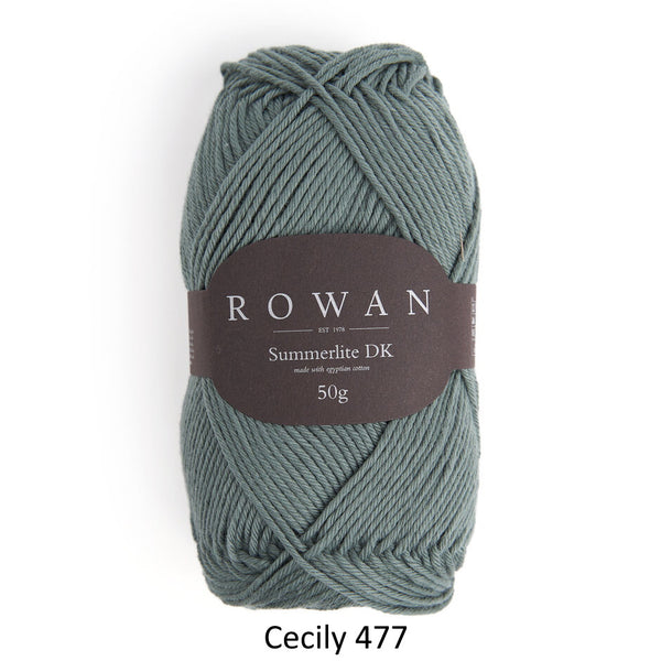Rowan Summerlite DK in the color Cecily 477