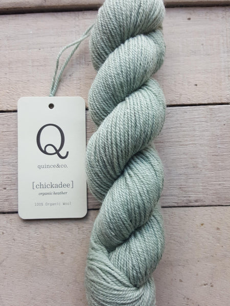Chickadee Organic Heathers from Quince & Co in the colorway Angelica