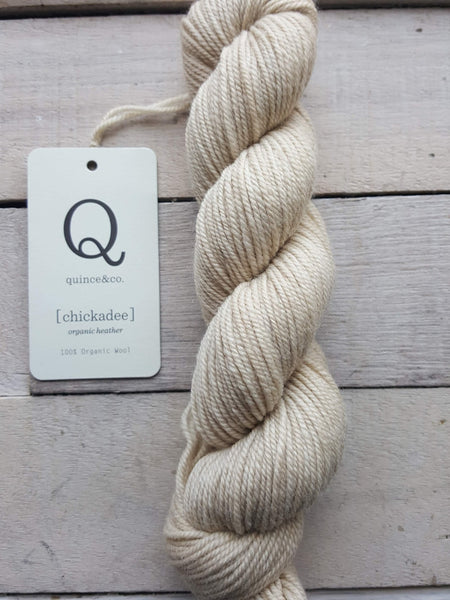 Chickadee Organic Heathers from Quince & Co in the colorway Audouin