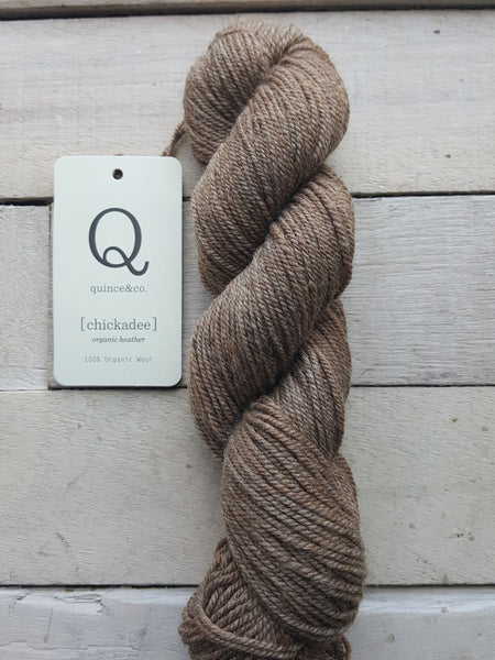 Chickadee Organic Heathers from Quince & Co in the colorway Caspian