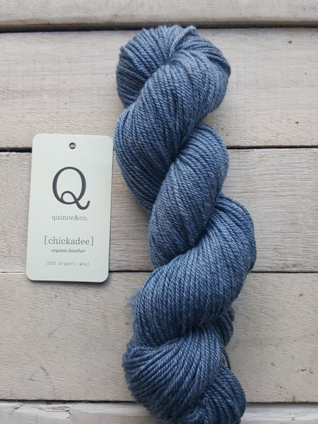 Chickadee Organic Heathers from Quince & Co in the colorway Kyanite