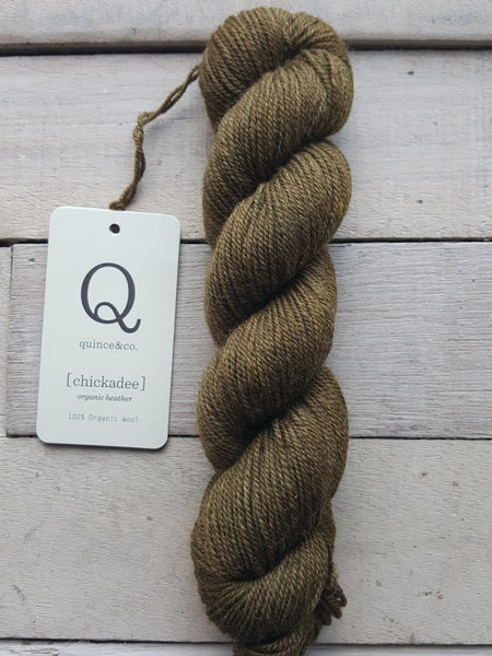 Chickadee Organic Heathers from Quince & Co in the colorway Gliding