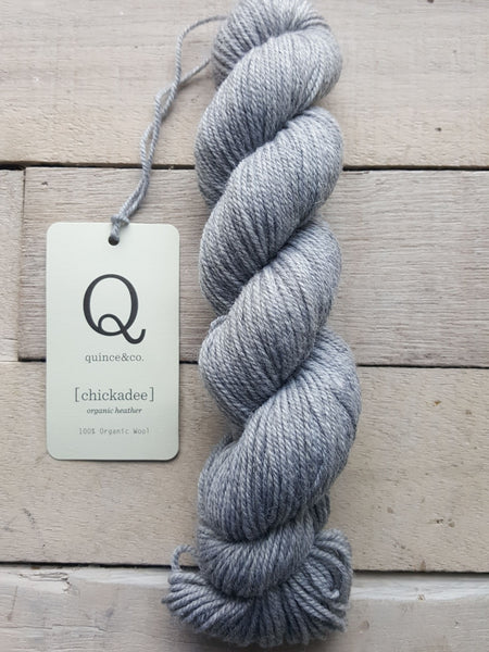 Chickadee Organic Heathers from Quince & Co in the colorway Iceland