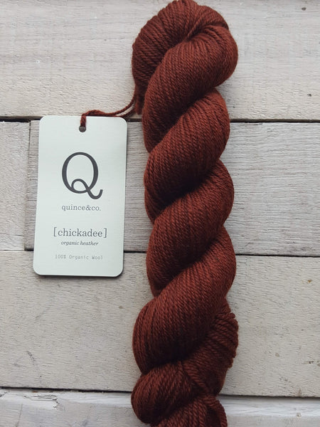 Chickadee Organic Heathers from Quince & Co in the colorway Jasper
