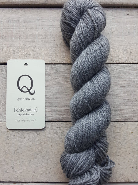 Chickadee Organic Heathers from Quince & Co in the colorway Kumlien's Gull