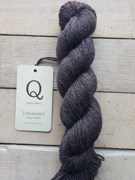 Chickadee Organic Heathers from Quince & Co in the colorway Skyline