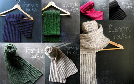 Chillmark Scarf pattern by Francine Toukou
