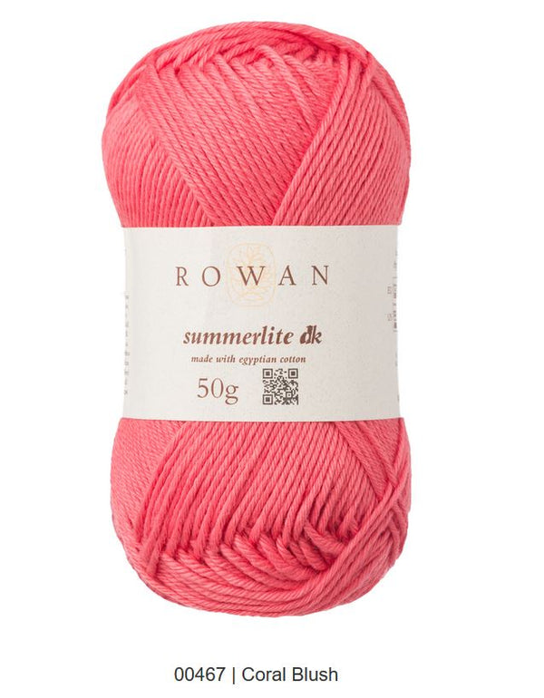 Rowan Summerlite Dk in the color Coral Blush 467