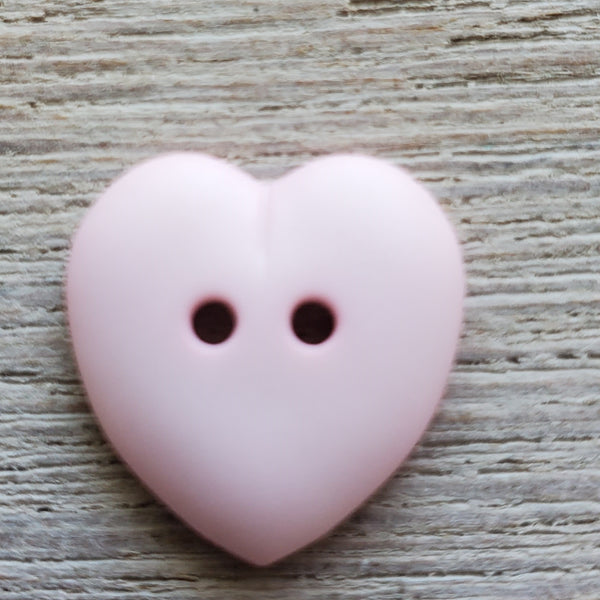 Pink Heart button 15mm