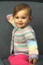 Plymouth Pattern 2649 Encore Dynamo Baby Sweater