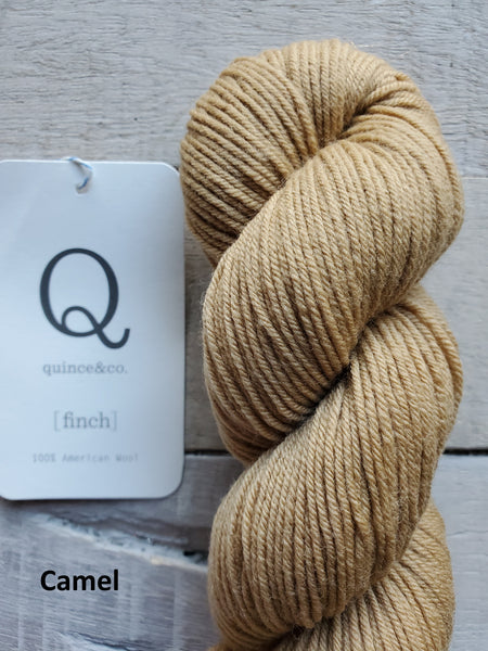 Quince & Co. Finch yarn in the color Camel
