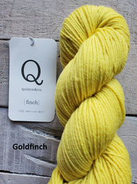 Quince & Co. Finch yarn in the color Goldfinch (yellow)