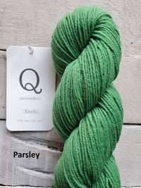 Quince & Co. Finch yarn in the color Parsley (green)