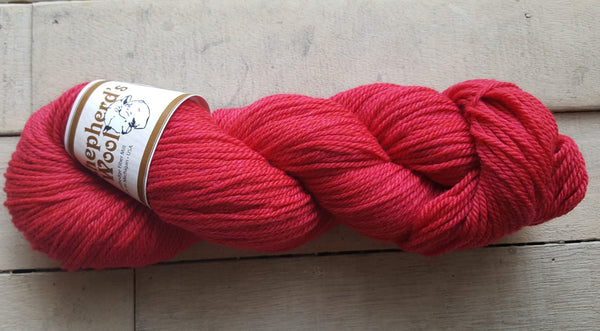 Shepherd's Wool Worsted in the color Fuchsia