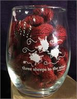 Three Sheeps to the Wind Stemless Wine Glass