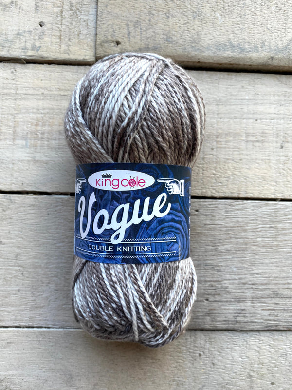 King Cole Vogue DK cotton yarn in the color Cool Grey 2111