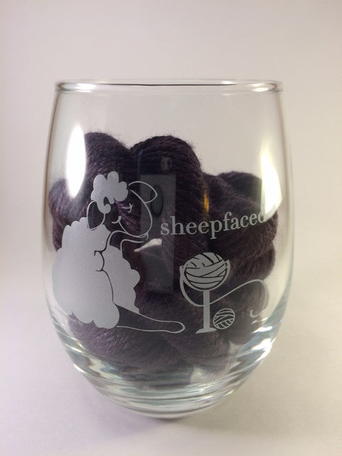 Sheepfaced Stemless Wine Glass