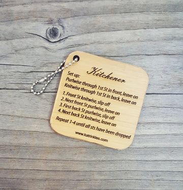 Kitchener Stitch Keychain / Bag Tag