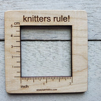 Knitter's Rule! Swatch Ruler - 2 Inch