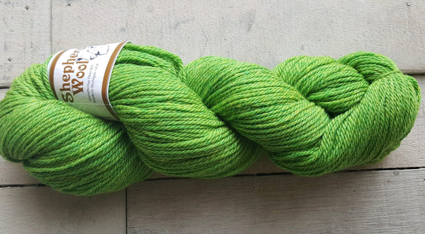 Shepherd's Wool Worsted in the color Lime Green