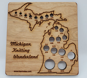 Knitting Needle Gauge - State of Michigan