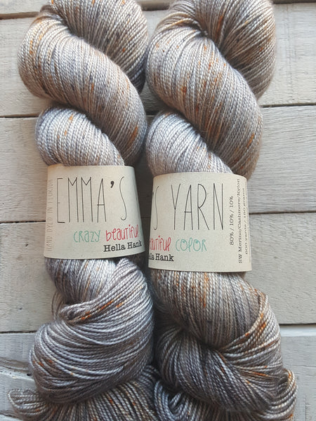Emmas Yarn Hella Hank in the color Nailed It