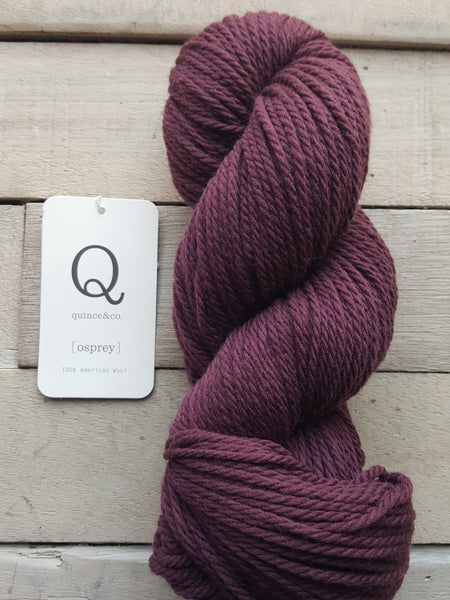 Quince & Co. Osprey Yarn in the color Nightshade