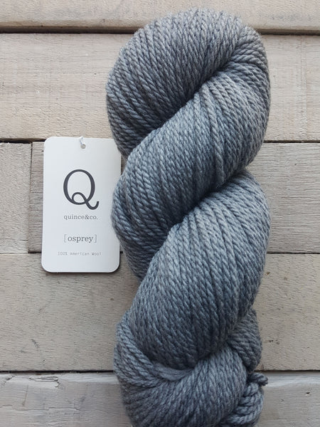 Quince & Co. Osprey Yarn in the color tombstone