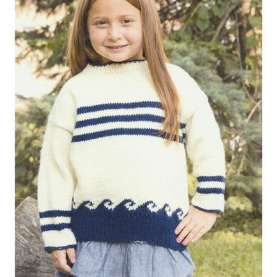 Plymouth Encore Worsted Kid's Pullover Pattern 2911