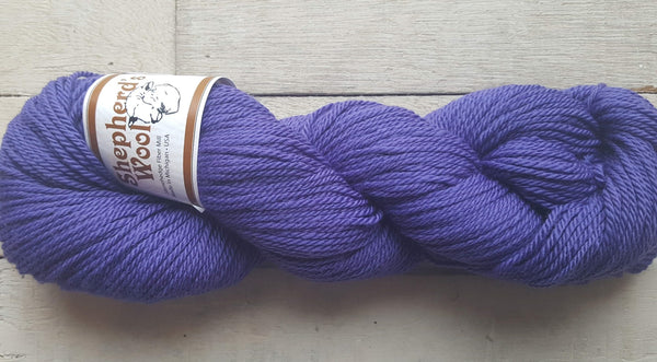 Shepherd's Wool Worsted in the color Purple