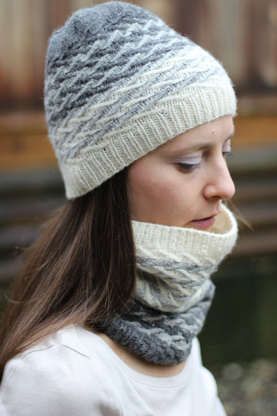 Rainchaser hat and cowl pattern by SweaterFreak Knits