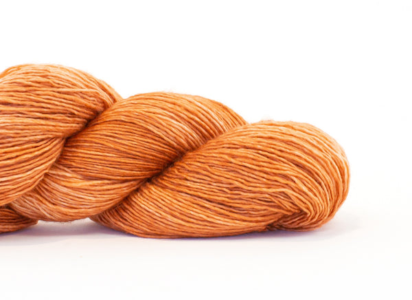Shibui Silk Cloud yarn in the color Fiddleneck (orange)