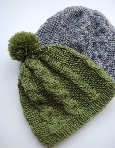 Silverfox Beanie and Slouch pattern by Frogginette