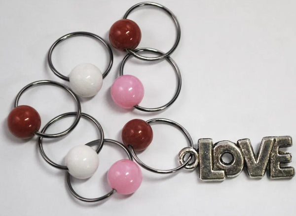 Stitch Markers by MAB Elements - Love