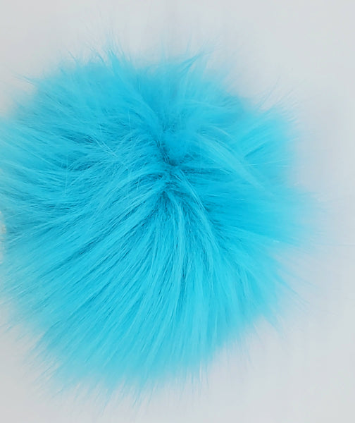 Faux Fur Pom Pom with Ties