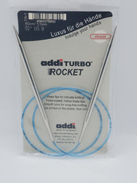 "addi turbo rocket knitting needle 32"" circular size US 0"