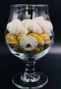 Lay Flat to Dry Belgian Style Beer Glass