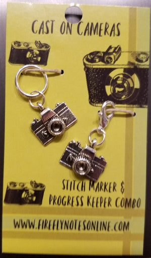 Stitch Markers - Cast on Cameras