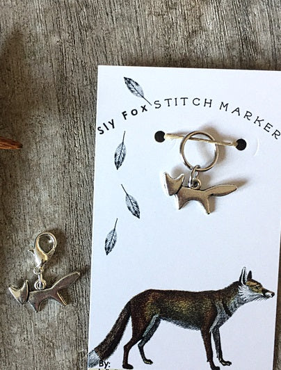 Sly Fox Stitch Marker