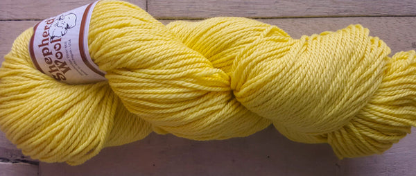 Shepherd's Wool Worsted in the color Lemon Yellow