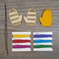 Striped Mitten Ornament Kit