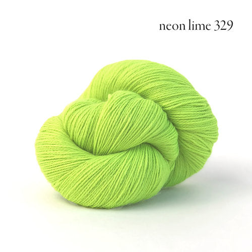 Kelbourne Woolens Perennial Yarn in the color Neon Lime