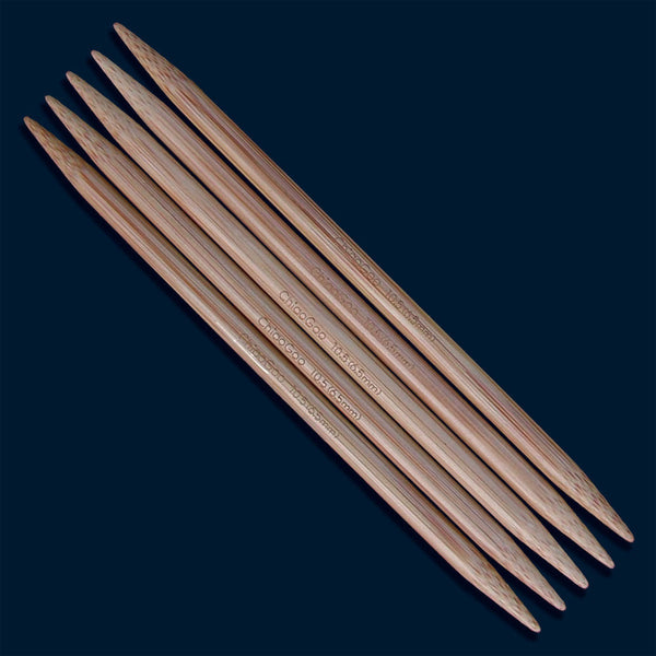6 Inch Double Pointed Set Bamboo ChiaoGoo