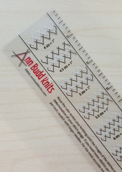 Ann Budd Knits Gauge Ruler