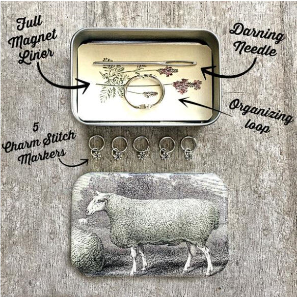 Sheep Knitting Kit, Stitch marker storage