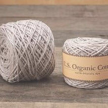 Appalachian Baby Cotton Yarn in the color Silver