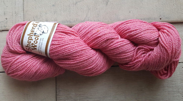 Shepherd's Wool Worsted in the color Zinnia Pink