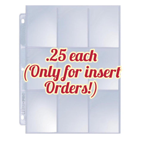 Coupon sleeves (only purchase with insert orders!)