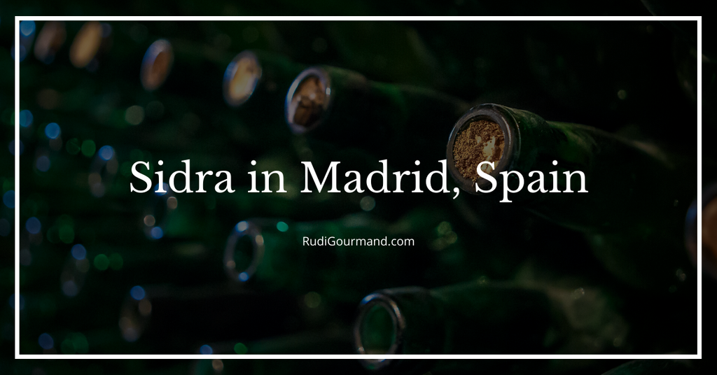 Sidra in Madrid, Spain