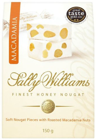 Sally Williams Honey Nougat Pieces with Macadamia Nuts - RudiGourmand